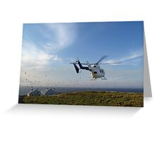 Helicopter Island Greeting Card