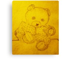 Poor Teddy Canvas Print