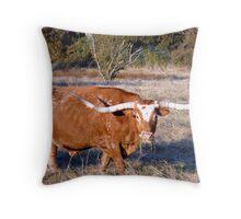 great horns Throw Pillow