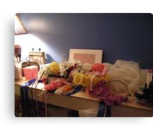 days of floral wedding headpieces Canvas Print