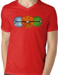Pokemon Starters Mens V-Neck T-Shirt