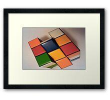 4D Cube Framed Print