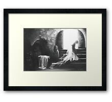 Little Earthquakes; charcoal and chalk Framed Print