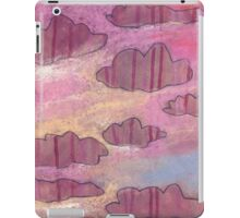 Pink stripy clouds ruled the evening skies. iPad Case/Skin