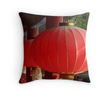 Temple Lanterns Throw Pillow