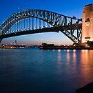 Sydney Harbour Bridge at dusk by Paul Foley