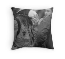 So...What are the mask for? Throw Pillow