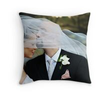 Veiled Kiss Throw Pillow