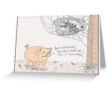 Charlotte's Web + The Office Greeting Card
