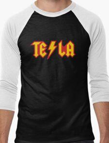 Tesla vs. AC/DC (Monsters of Grok) Men's Baseball ¾ T-Shirt