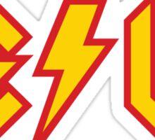 Tesla vs. AC/DC (Monsters of Grok) Sticker