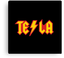 Tesla vs. AC/DC (Monsters of Grok) Canvas Print