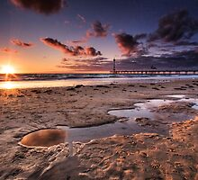 Brighton Beach Sunset by KathyT