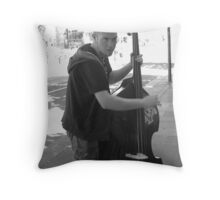 the busker Throw Pillow