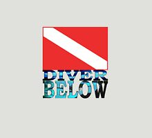 Diver Below Red Flag Unisex T-Shirt