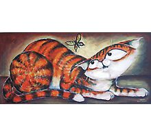 Ginger and the Butterfly - art by TET Photographic Print