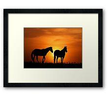Country Sunrise Framed Print