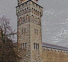 Cardiff Castle Clock Tower B by VikingVisual