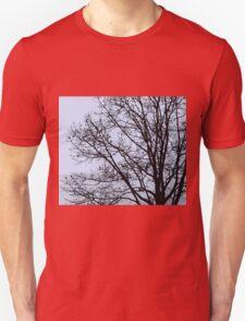 Fall Tree Silhouette Vector Blue Unisex T-Shirt
