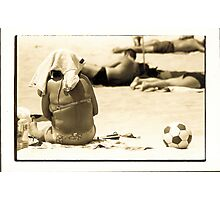 Lady on beach, Portugal, 1998 Photographic Print