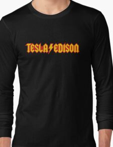Tesla/Edison vs. AC/DC (Monsters of Grok) Long Sleeve T-Shirt