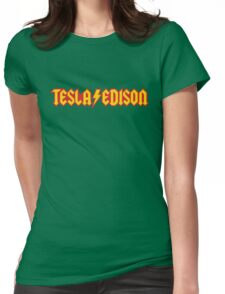 Tesla/Edison vs. AC/DC (Monsters of Grok) Womens Fitted T-Shirt