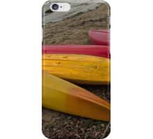 Beached Canoes. iPhone Case/Skin