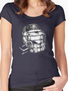 Brain Bucket (Border) Women's Fitted Scoop T-Shirt