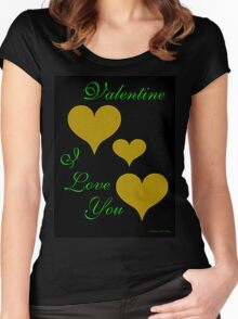 VALENTINE, I LOVE YOU Women's Fitted Scoop T-Shirt
