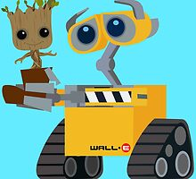 WALL-E and Groot by Ztw1217