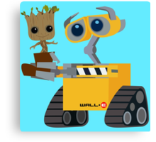WALL-E and Groot Canvas Print