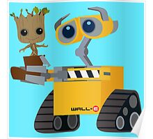 WALL-E and Groot Poster