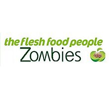 Zombies, the flesh food people. Photographic Print