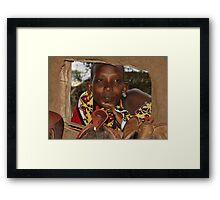 Wistful Gaze Framed Print