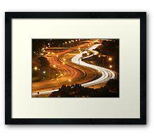 Freeway Perth Australia Framed Print