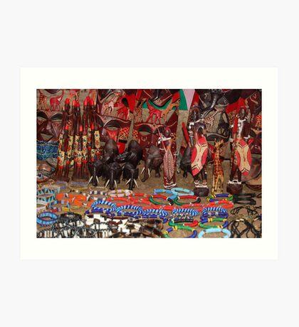 Masai Crafts Art Print