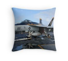 F/A 18E Hornet Throw Pillow
