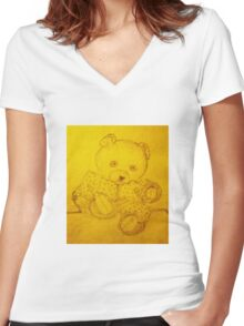 Poor Teddy Women's Fitted V-Neck T-Shirt