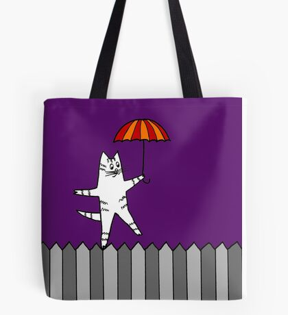 Fence Cat 2 Tote Bag