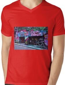 Street Graffiti Mens V-Neck T-Shirt