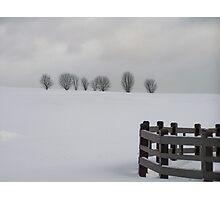 Snowy Landscape Photographic Print