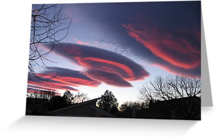 UFO CLOUDS 3 by Harriette Knight