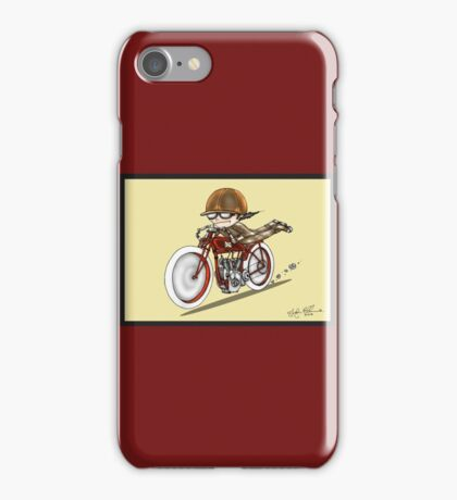MOTORCYCLE EXCELSIOR STYLE (red and yellow) iPhone Case/Skin