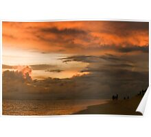 clouds over Indian Ocean Poster