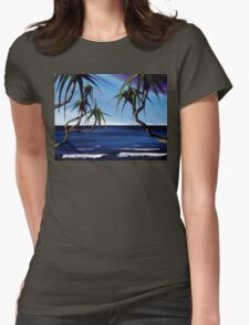 Curiously looking in... Womens Fitted T-Shirt