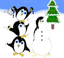 Christmas Penguins by spotz