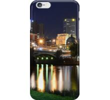 Melbourne CBD at night iPhone Case/Skin