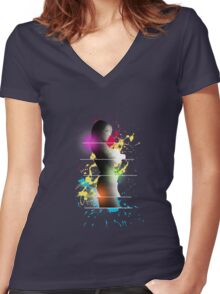 cool woman  Women's Fitted V-Neck T-Shirt