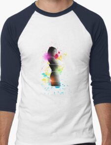 cool woman  Men's Baseball ¾ T-Shirt