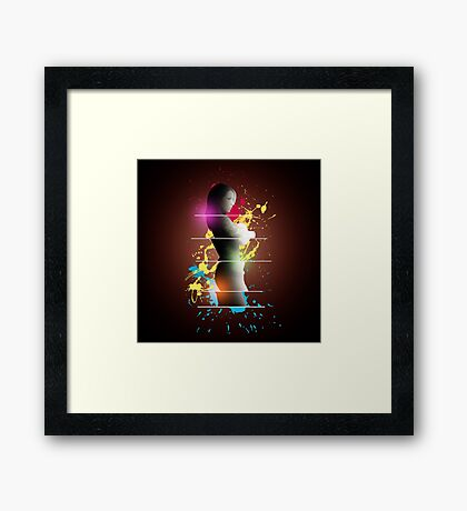 cool woman  Framed Print